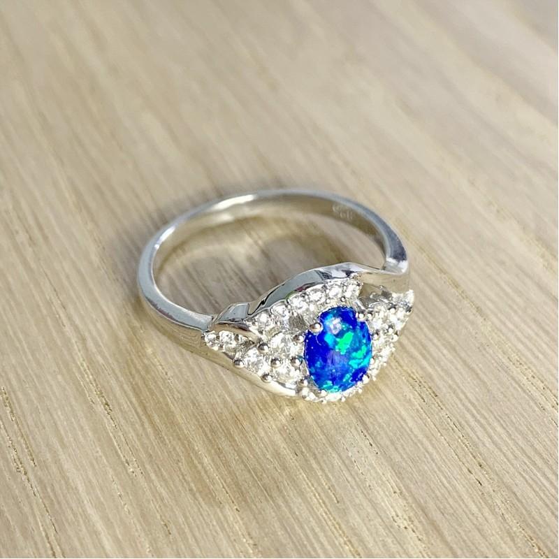 Серебряное кольцо SilverBreeze с опалом (1948347) 18.5 размер