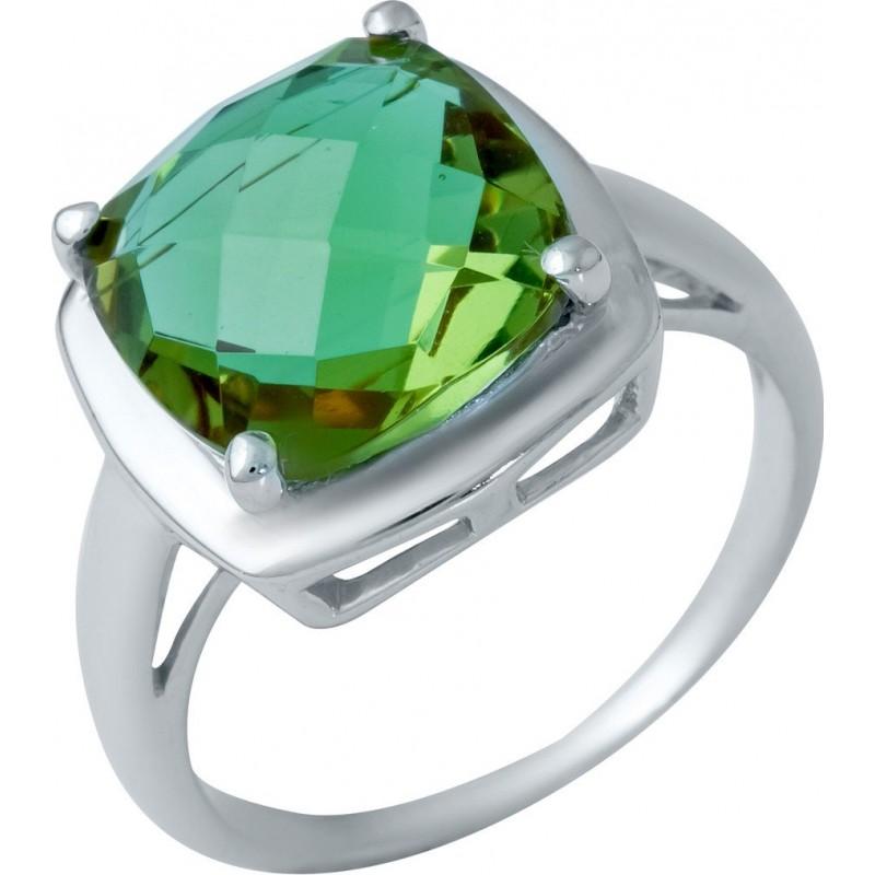 Серебряное кольцо SilverBreeze с Султанит султанитом (1948484) 18 размер