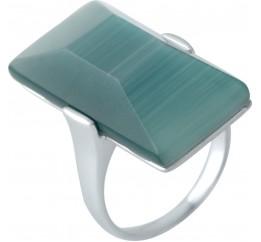 Серебряное кольцо SilverBreeze с кошачим глазом (1955529) 18 размер