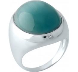 Серебряное кольцо SilverBreeze с кошачим глазом (1955697) 17.5 размер