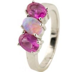 Серебряное кольцо SilverBreeze с опалом (0069951) 17 размер