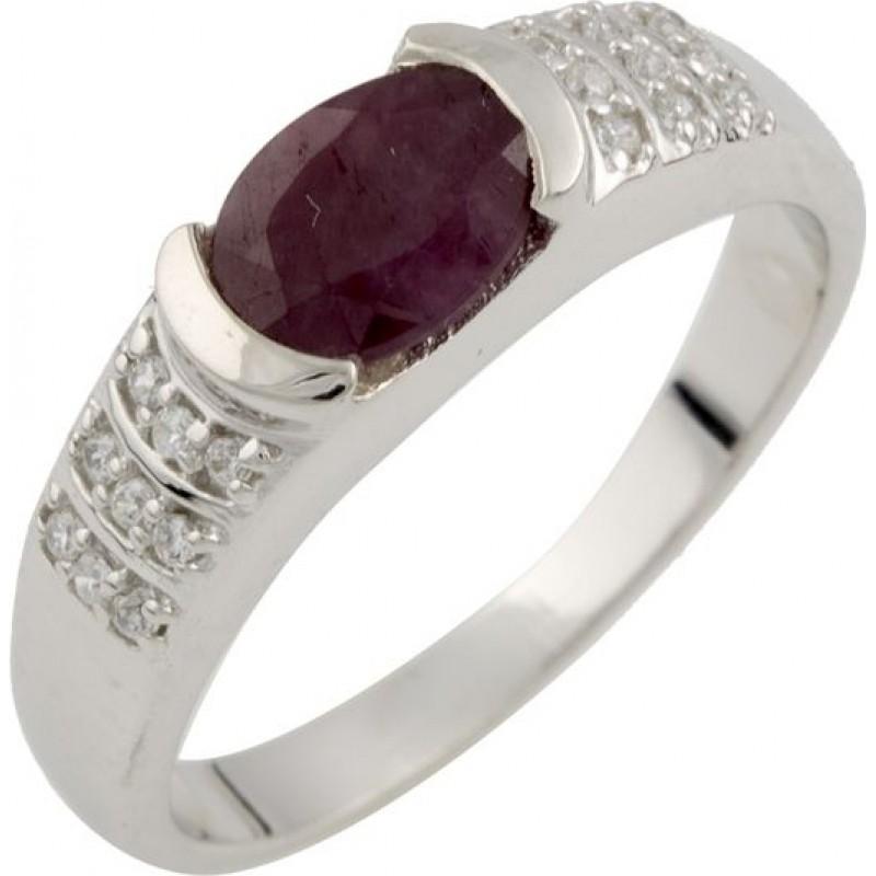 Серебряное кольцо SilverBreeze с натуральным рубином (0477251) 17 размер