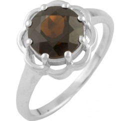 Серебряное кольцо SilverBreeze с натуральным гранатом (0860862) 16 размер