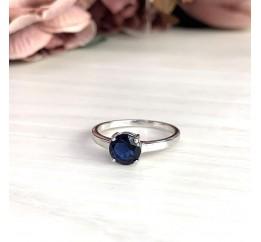 Серебряное кольцо SilverBreeze с сапфиром nano (1727263) 18 размер