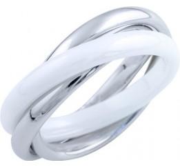 Серебряное кольцо SilverBreeze с керамикой (1734438) 17 размер