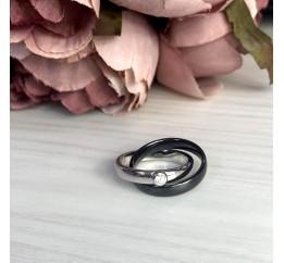 Серебряное кольцо SilverBreeze с керамикой (1765036) 18.5 размер