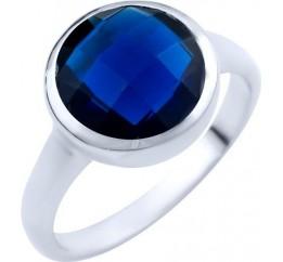 Серебряное кольцо SilverBreeze с сапфиром nano (1825358) 16.5 размер