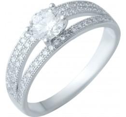 Серебряное кольцо SilverBreeze с фианитами (1914625) 16.5 размер