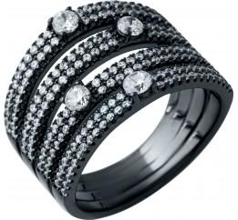 Серебряное кольцо SilverBreeze с фианитами (1915042) 17 размер