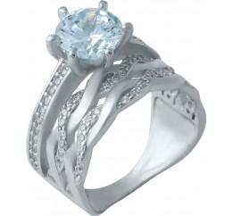 Серебряное кольцо SilverBreeze с фианитами (1925416) 18 размер