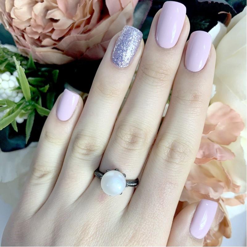 Серебряное кольцо SilverBreeze с натуральным жемчугом (1957059) 18 размер
