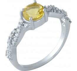 Серебряное кольцо SilverBreeze с цитрином nano (1957486) 17 размер
