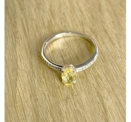 Серебряное кольцо SilverBreeze с цитрином nano (1957493) 17.5 размер
