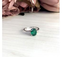 Серебряное кольцо SilverBreeze с изумрудом nano (1957585) 18 размер