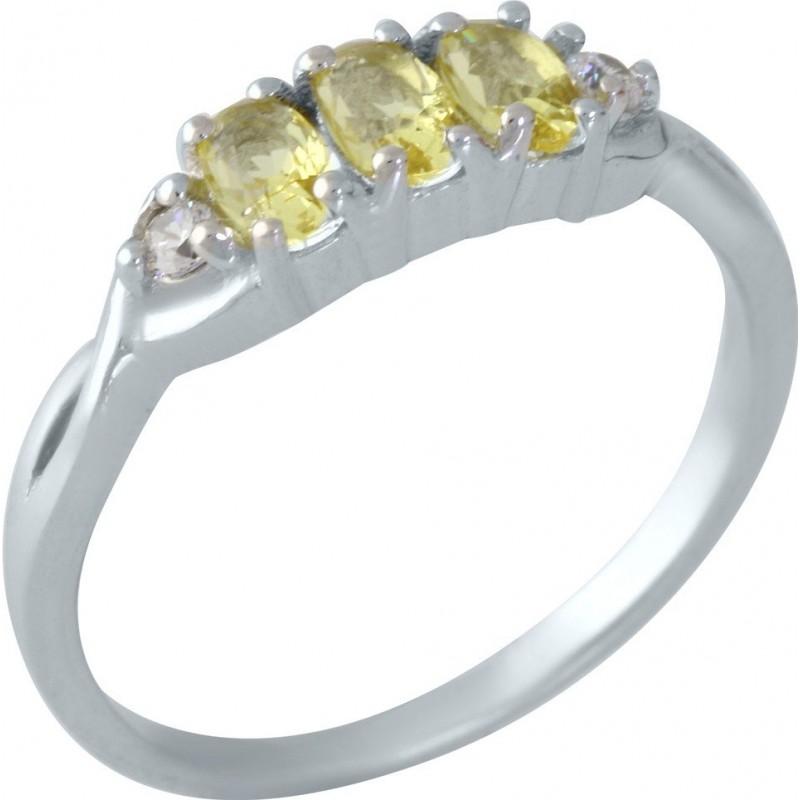 Серебряное кольцо SilverBreeze с цитрином nano (1957639) 17 размер