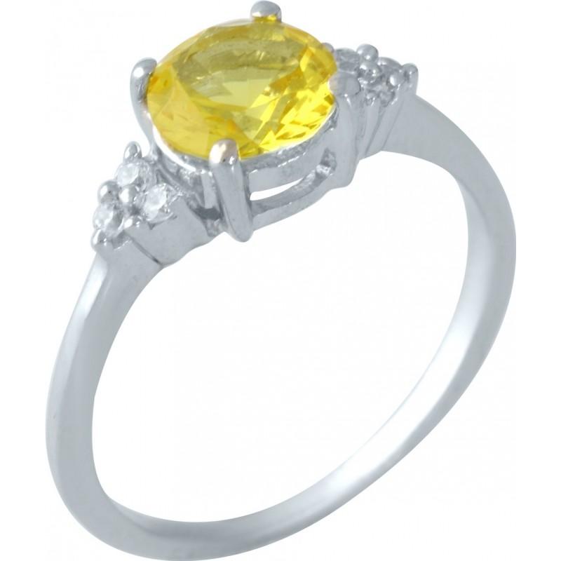 Серебряное кольцо SilverBreeze с цитрином nano (1957653) 18 размер