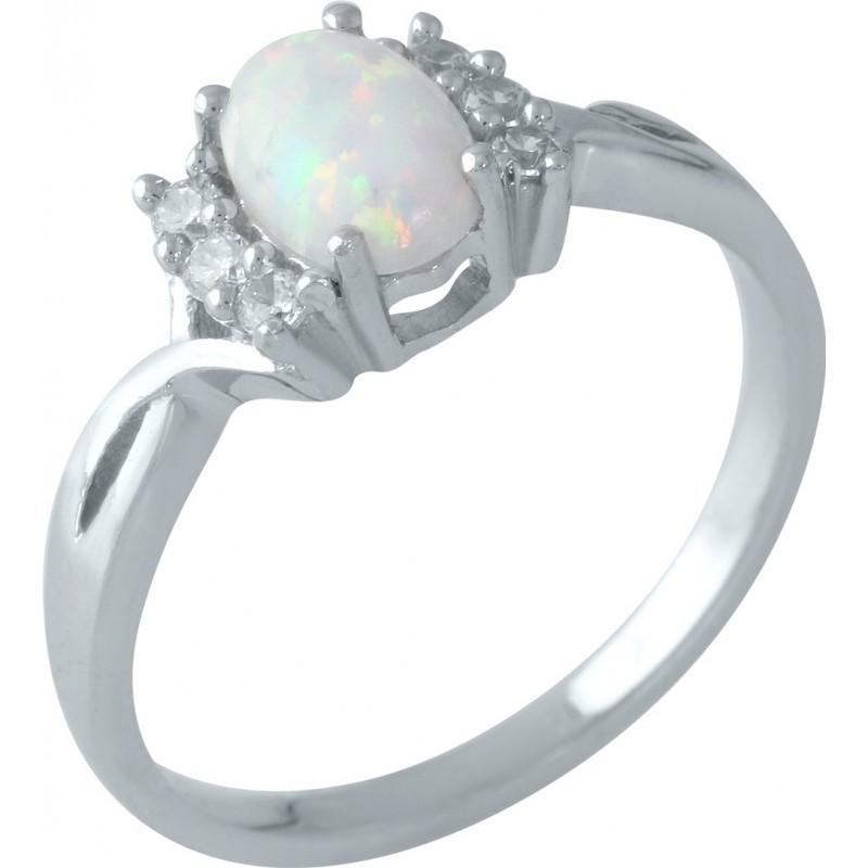 Серебряное кольцо SilverBreeze с опалом (1958865) 18.5 размер