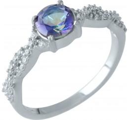 Серебряное кольцо SilverBreeze с натуральным мистик топазом (1959121) 17.5 размер