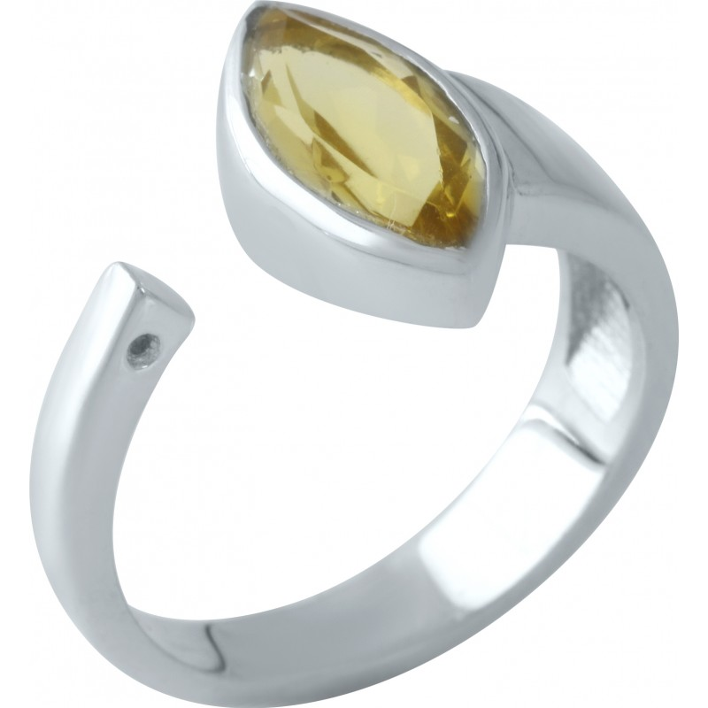 Серебряное кольцо SilverBreeze с цитрином nano (1961049) 18 размер