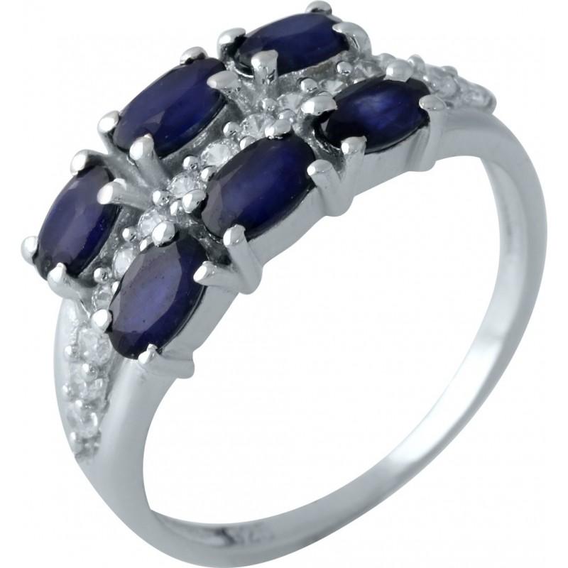 Серебряное кольцо SilverBreeze с натуральным сапфиром (1961643) 17 размер