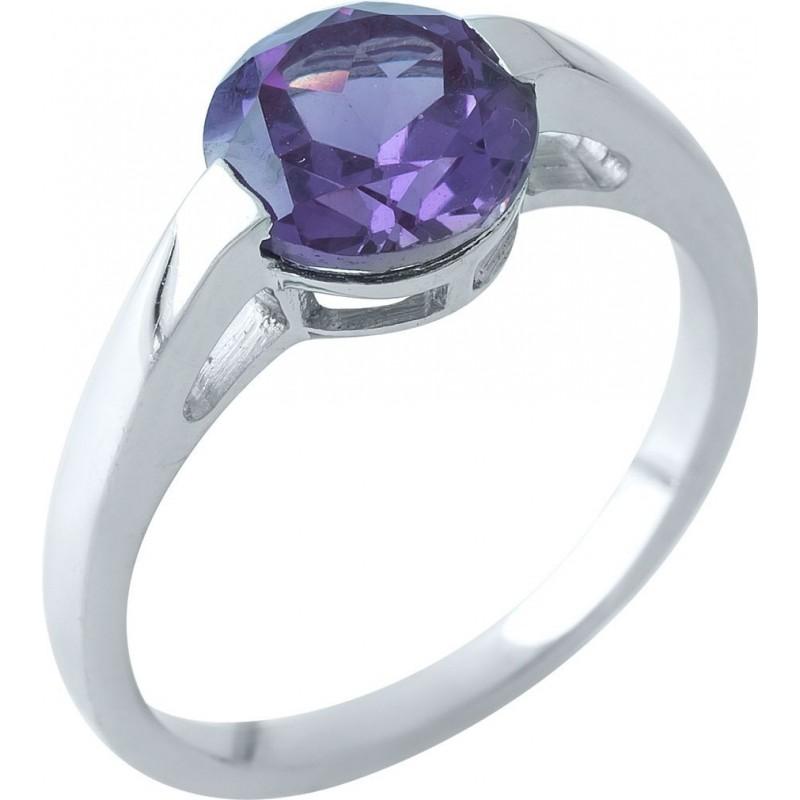 Серебряное кольцо SilverBreeze с олександритом (1964224) 18 размер