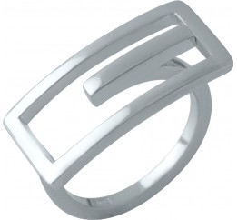 Серебряное кольцо SilverBreeze без камней (1998458) 18 размер