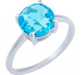 Серебряное кольцо SilverBreeze с аквамарином nano (1891360) 17 размер