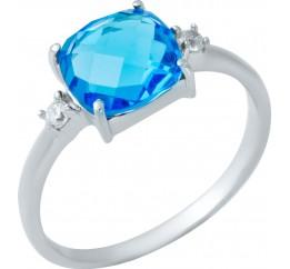 Серебряное кольцо SilverBreeze с аквамарином nano (1950166) 18 размер