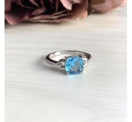 Серебряное кольцо SilverBreeze с аквамарином nano (2012542) 18.5 размер