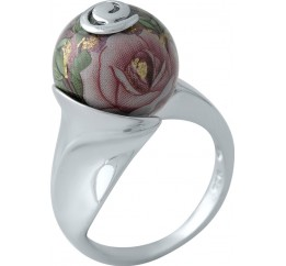 Серебряное кольцо SilverBreeze с емаллю (2004059) 17 размер