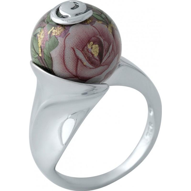 Серебряное кольцо SilverBreeze с емаллю (2004059) 17.5 размер