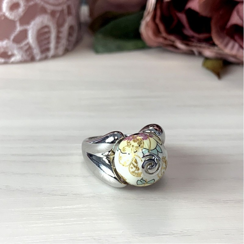 Серебряное кольцо SilverBreeze с емаллю (2004127) 17 размер