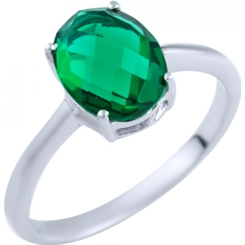 Серебряное кольцо SilverBreeze с изумрудом nano (1891490) 18 размер