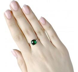 Серебряное кольцо SilverBreeze с изумрудом nano (1946701) 18 размер