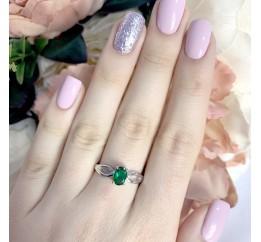 Серебряное кольцо SilverBreeze с изумрудом nano (1968260) 18.5 размер