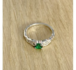 Серебряное кольцо SilverBreeze с изумрудом nano (1968291) 17.5 размер
