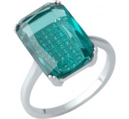 Серебряное кольцо SilverBreeze с изумрудом nano (1976012) 19 размер