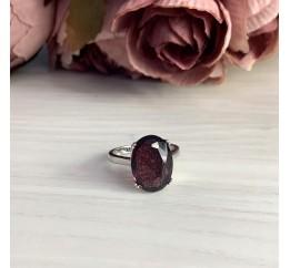 Серебряное кольцо SilverBreeze с искусственным аметистом nano (1975831) 18 размер