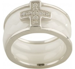 Серебряное кольцо SilverBreeze с керамикой (1150382) 17 размер