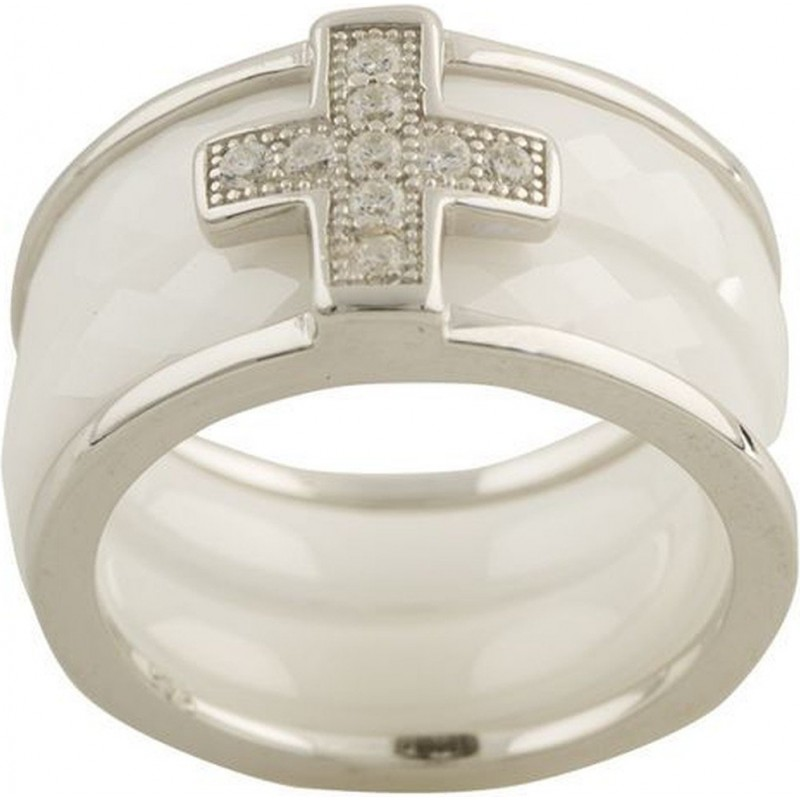 Серебряное кольцо SilverBreeze с керамикой (1150382) 17.5 размер
