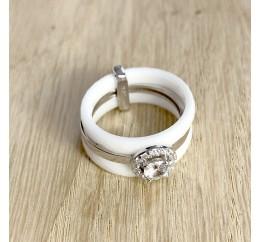 Серебряное кольцо SilverBreeze с керамикой (1150566) 19 размер