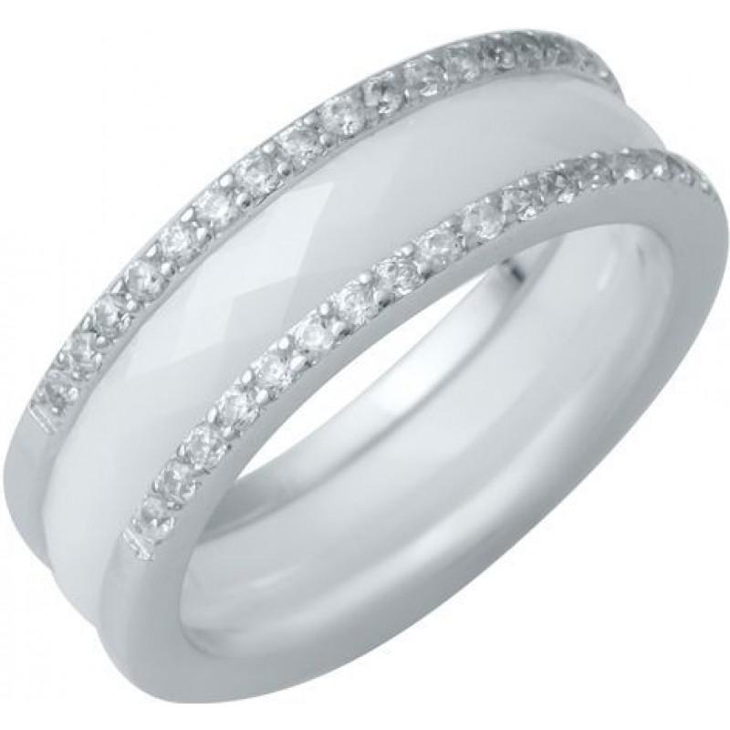 Серебряное кольцо SilverBreeze с керамикой (1214459) 17.5 размер
