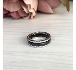 Серебряное кольцо SilverBreeze с керамикой (1214503) 18 размер