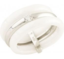 Серебряное кольцо SilverBreeze с керамикой (1214961) 16.5 размер