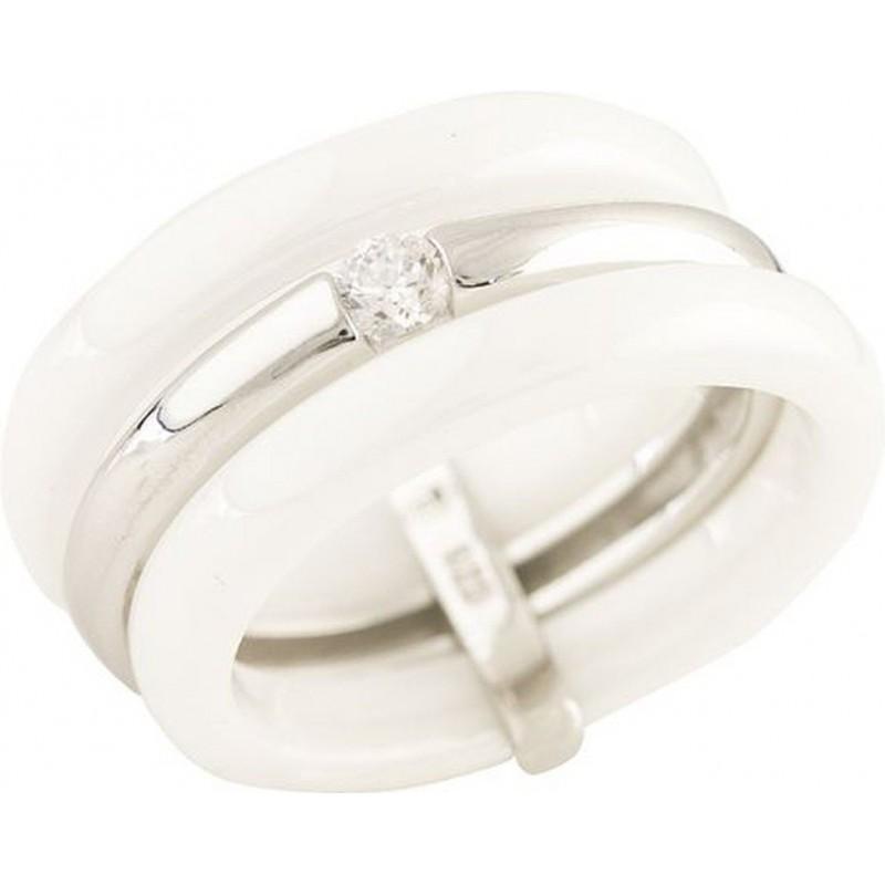Серебряное кольцо SilverBreeze с керамикой (1214961) 18.5 размер