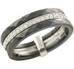 Серебряное кольцо SilverBreeze с керамикой (1223635) 16.5 размер