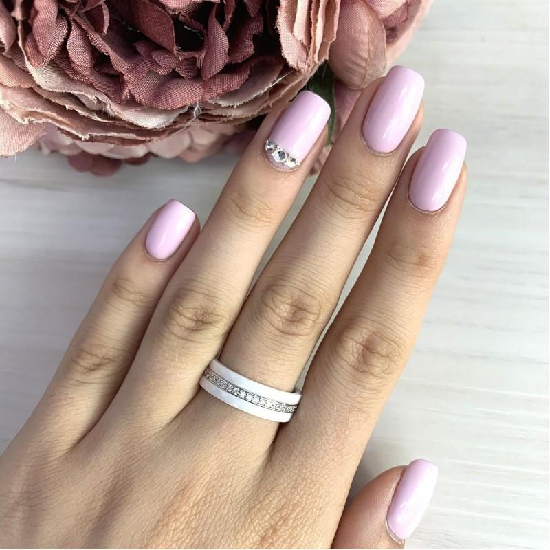 Серебряное кольцо SilverBreeze с керамикой (1223666) 16.5 размер