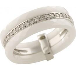 Серебряное кольцо SilverBreeze с керамикой (1223666) 18 размер