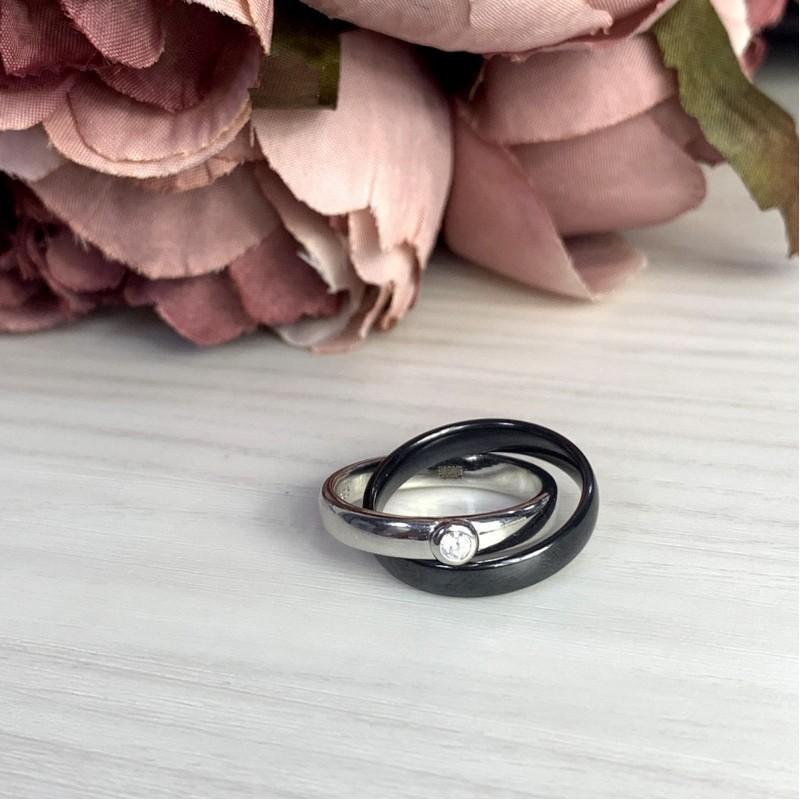 Серебряное кольцо SilverBreeze с керамикой (1765036) 18 размер
