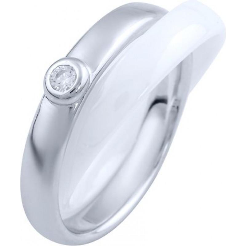 Серебряное кольцо SilverBreeze с керамикой (1765043) 17 размер